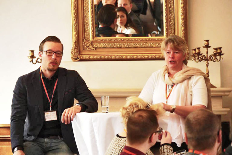 Die Gastgeber: Sonja Klimke, Spots BSS und Daniel Böcker, bms GmbH